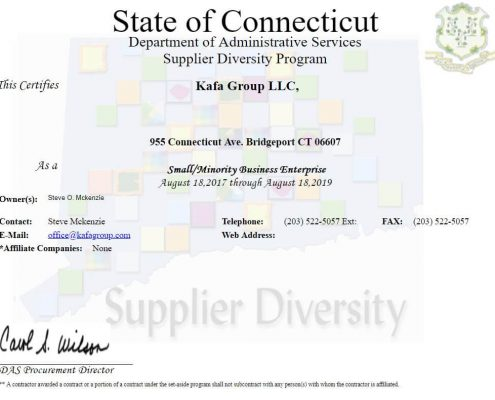 State of Connecticut Supplier Diversity S-MBE